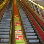 Metró reklám-balusztrád-Deák tér