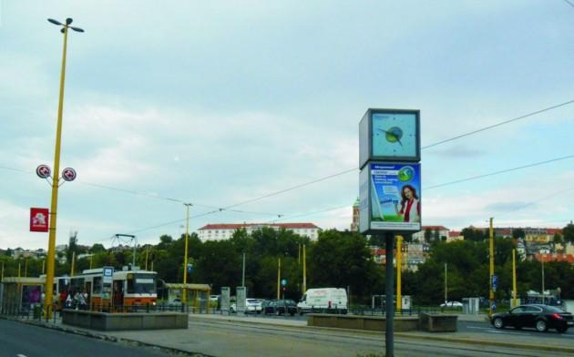 Világított forgó óra - Déli pályaudvar